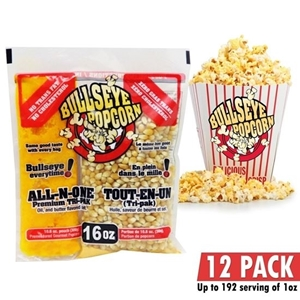 Image de 70116-Box of 12 prepacked portions of popcorn / 16 oz