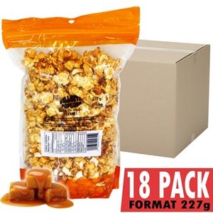 Image de 69011-18 Pack of 18 Caramel popcorn bag 227g
